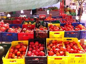 puesto del mercado de Palamós